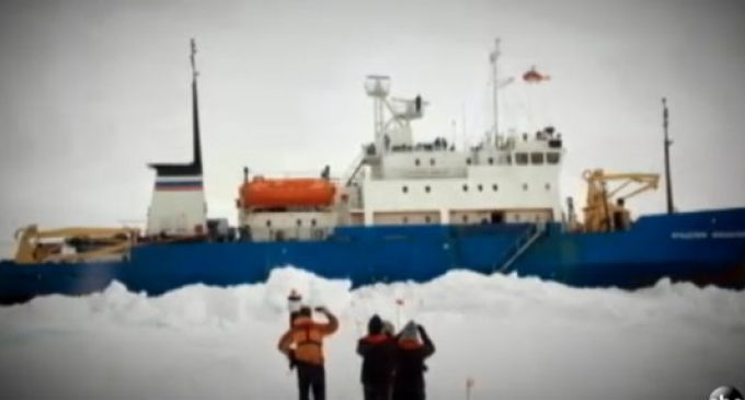 Global Warming Fans Stranded By Antarctic Ice