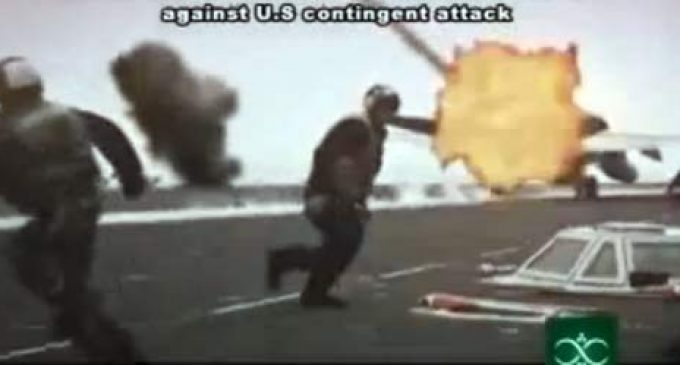 VIDEO: Bombing of U.S. Aircraft Carrier, Tel Aviv Simulated on Iranian TV