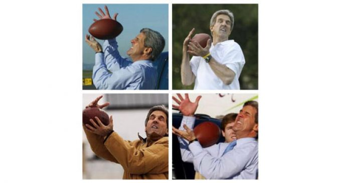 FUMBLE! John Kerry Drops the Ball