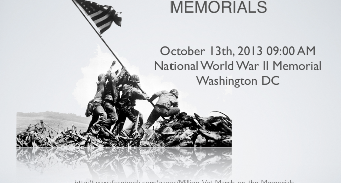 Million Vet March on the Memorials Oct 13th 2013