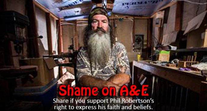 Backlash Against A&E, in Support of Phil Robertson's Faith & Beliefs
