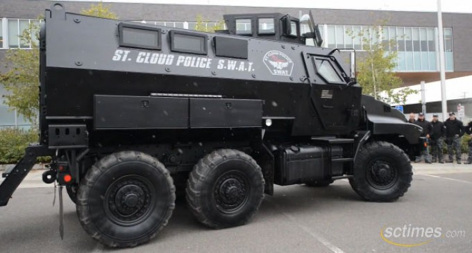 Local town gets massive mine-resistant tank from Homeland Security