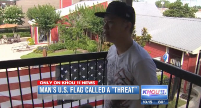 """Apt. Complex Tells Man His American Flag Is A """"Threat To The Muslim Community"""""""