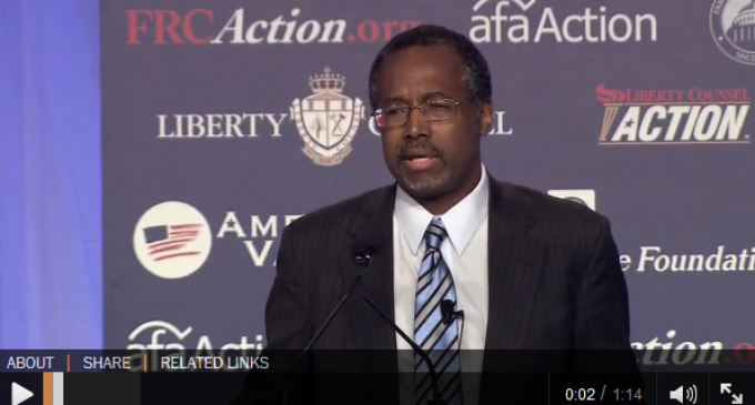 Ben Carson: Obamacare's purpose is to enslave us all, worse thing to happen to this country since slavery