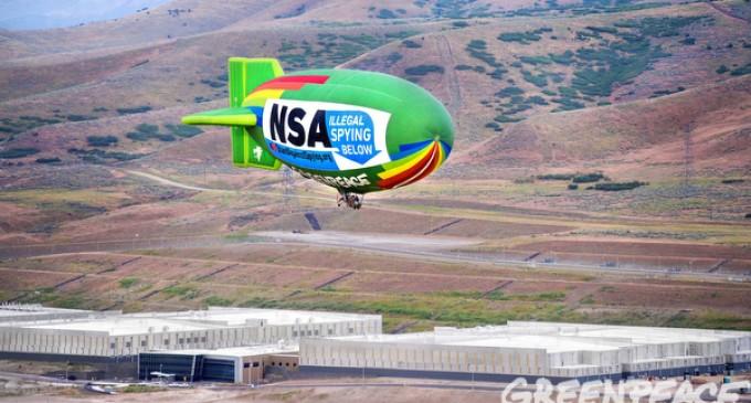 NSA Protest Blimp Flies Over NSA Data Center In Utah