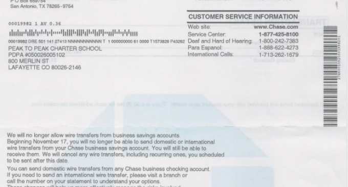 Chase Bank To Stop International Wire Transfers And Limit Cash Transactions