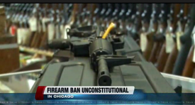US District Court Judge Rules Chicago's Ban On Firearms Is Unconstitutional