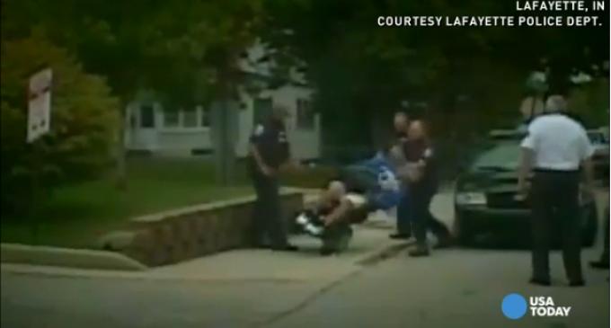 Cold-Blooded Cop Beats Down Handicap Man