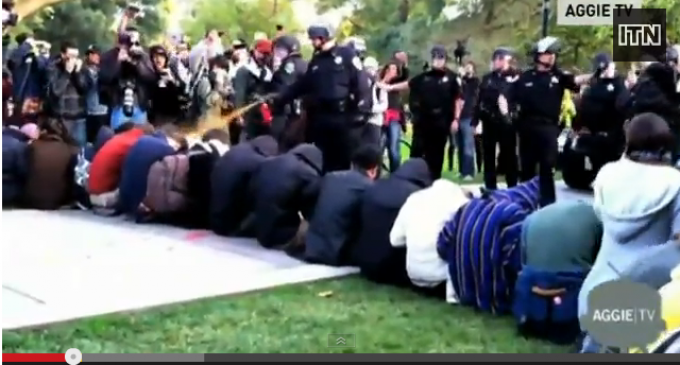 Cop Who Pepper Sprayed Students Demontrating Peacefully Receives $38,000 Settlement