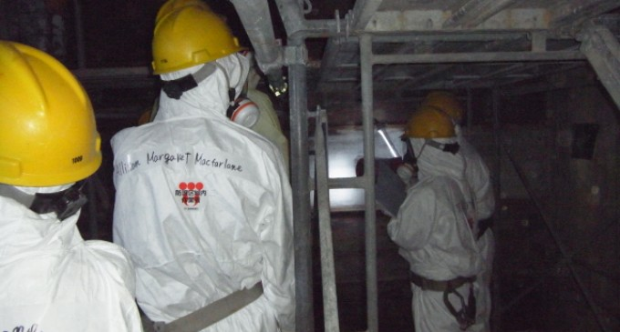 Fukushima Workers Use Duct Tape to Stop Radiation Leaks