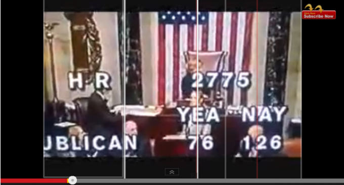 """You are all sons of the devil"" Gov't Stenographer Shouts At House As Debt Limit Bill Passes"