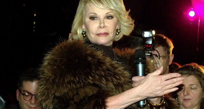 """Joan Rivers: """"Everyone Knows"""" Michelle Obama Is A Tranny"""