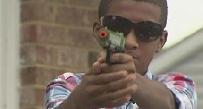 Boys expelled for playing with airsoft guns in their own yard