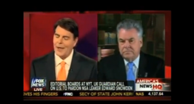 Rep. Pete King: Snowden Is A Traitor, Fox Commentator Complicit and Biased