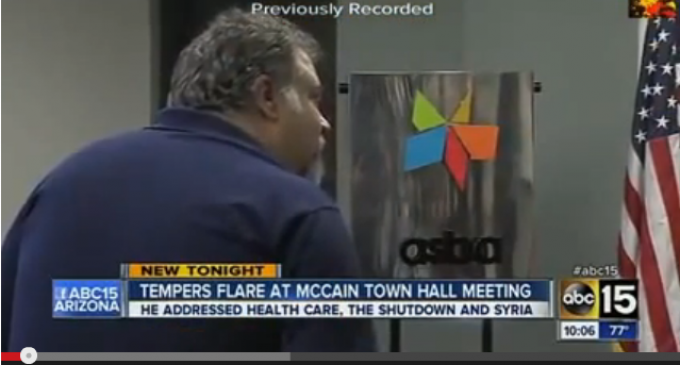"""Why is My Money Going to Al Qaeda in Syria?"" McCain Takes Heat At Town Hall Meeting"