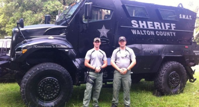 Peaceful Flordia County Gets MRAP Armored Vehicle