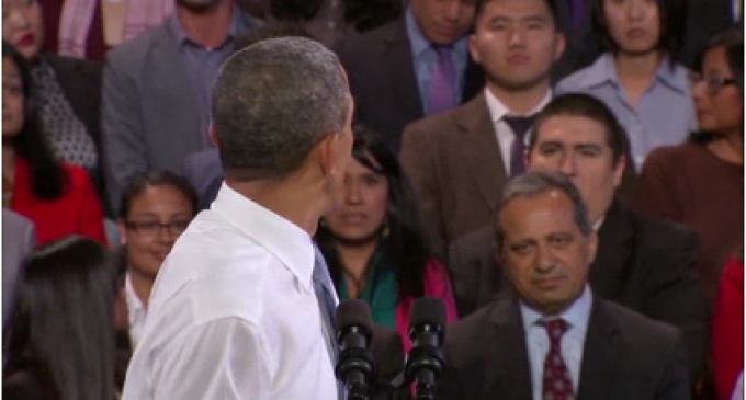 Obama To Heckler: I Must Obey The Countries' Laws