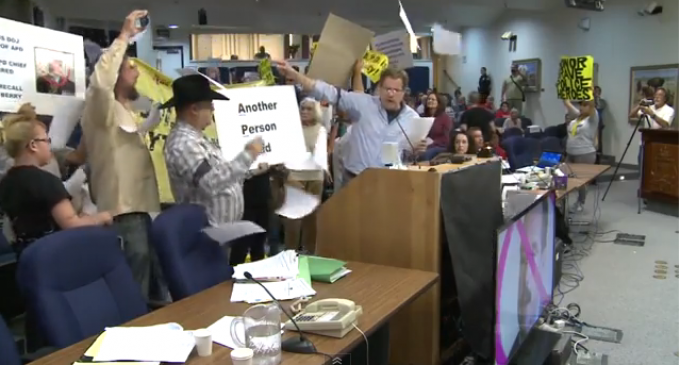 Albuquerque Protesters Take Over City Council – Attempt To Arrest Police Chief