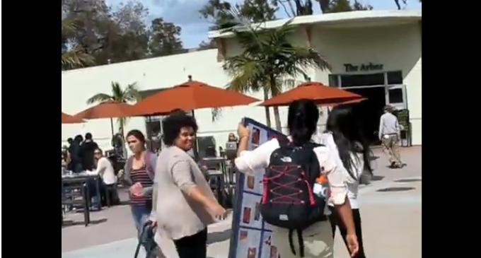 UC Santa Barbara Professor Assaults Young Pro-Life Activist – Steals Pro-Life Sign