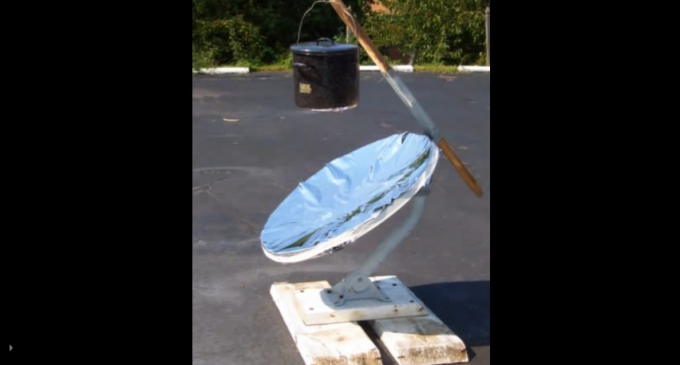Make A Solar Cooker From A Satellite Dish