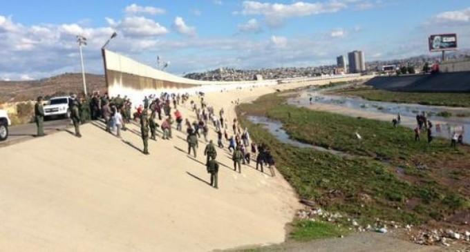 Mass Illegal Border Crossing Involved Assaults On Border Patrol Officers
