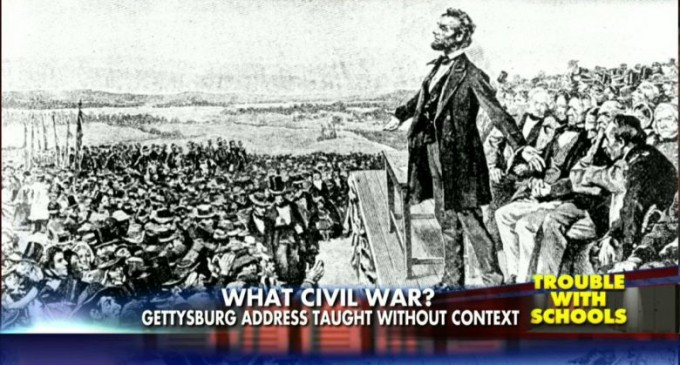 Common Core: Best to Teach Gettysburg Address without mentioning Civil War