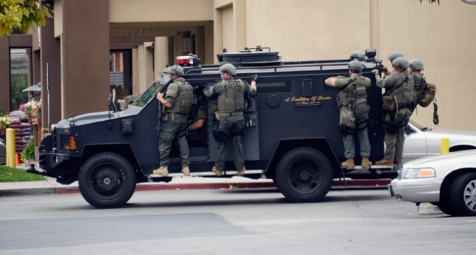 Californian's Outrage At Police Acquision Of Military Armored Vehicle For Patrol Purposes