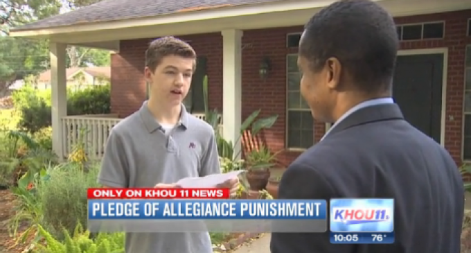 School Suspends Student Speaking Out Against Big Government