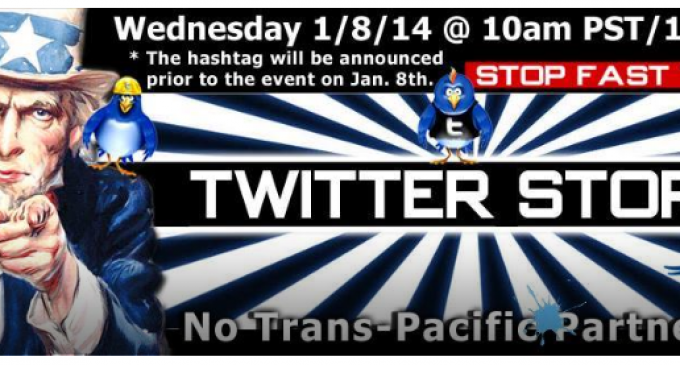 Citizens Worldwide Fight Obama's TPP Corporatist Agenda With Twitter