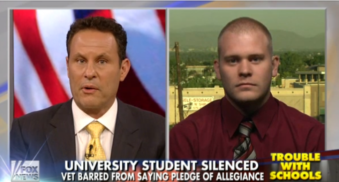 Vet Banned From Saying Pledge Of Allegiance At College – Might Offend International Students