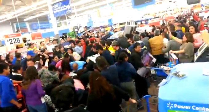 Black Friday Insanity: Zombie-like Frenetic Behavior At Wal-Mart