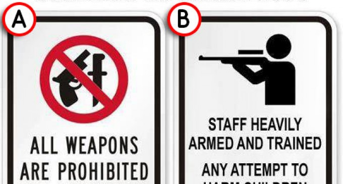 Which of these signs is more likely to prevent another tragedy?